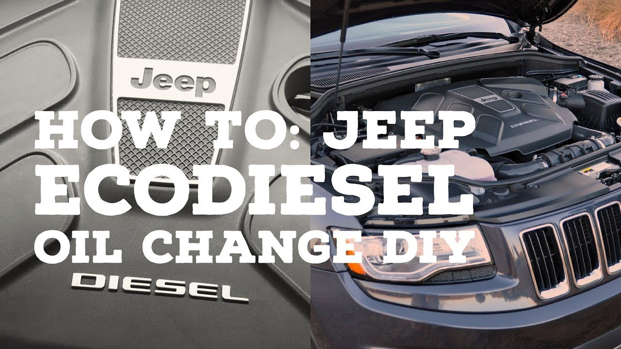 How To 2014 Jeep Grand Cherokee Ecodiesel Oil Change Easy Diy