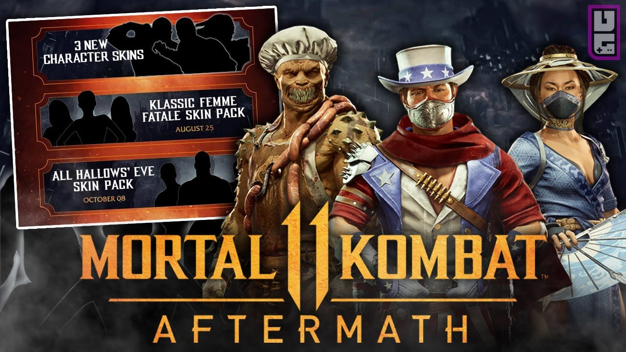 Mortal Kombat 11 Aftermath New Skins Revealed More Skins