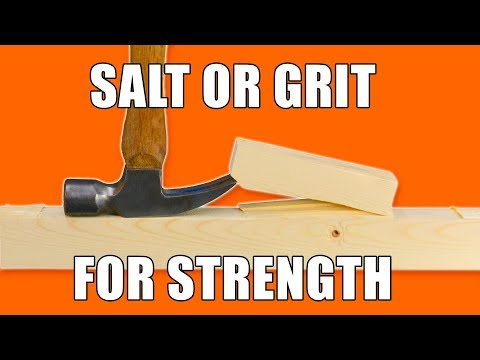 Strength Testing Salt and Grit on Woodworking Glue Joints