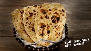 Atta Naan - Tandoori in Tawa - No Yeast / No Oven Recipe - CookingShooking