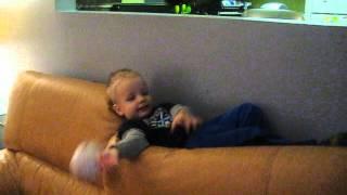 Lazy Boy Playing Catch