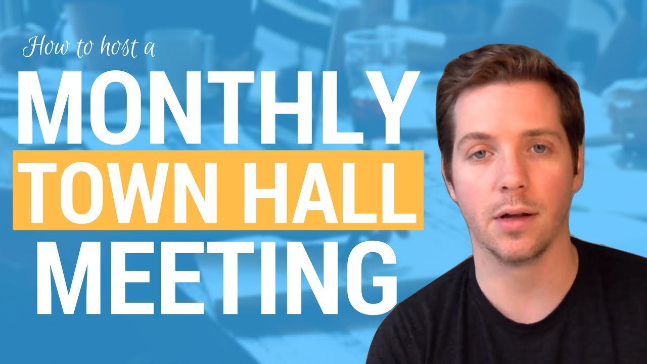 how to host a monthly town hall meeting in an agency   agenda  purpose  length