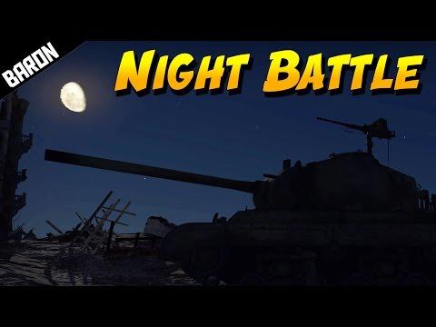 TANK BATTLE at NIGHT!  (War Thunder Tanks Gameplay)