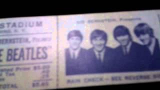 Beatles Shea Stadium 1965 Unused Concert Ticket Rare