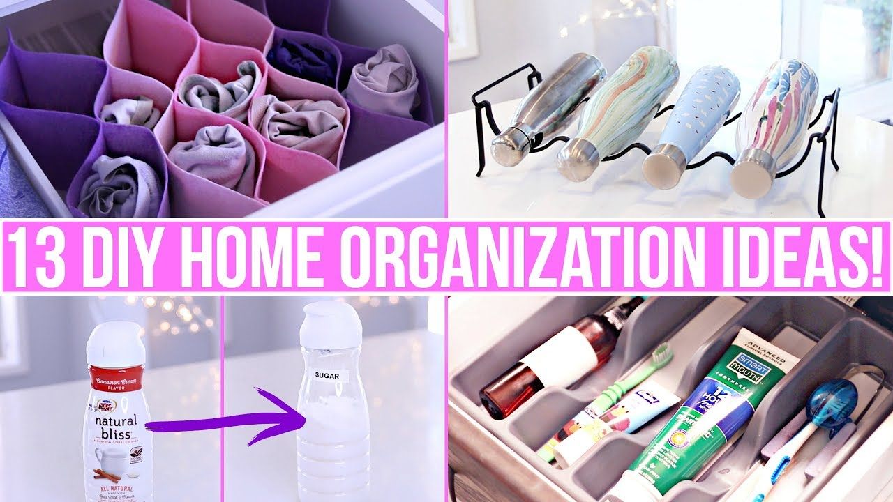 13 Clever Diy Home Organization Ideas Youtube