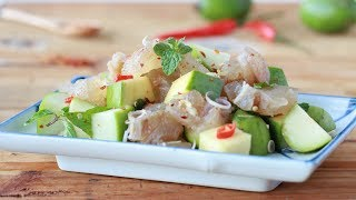 Beef Tendon and Green Fruit Salad