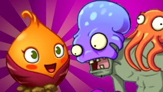 Plants vs. Zombies 2 - Big Wave Beach Part 2, Day 17 (Sweet Potato + Octopus zombie)