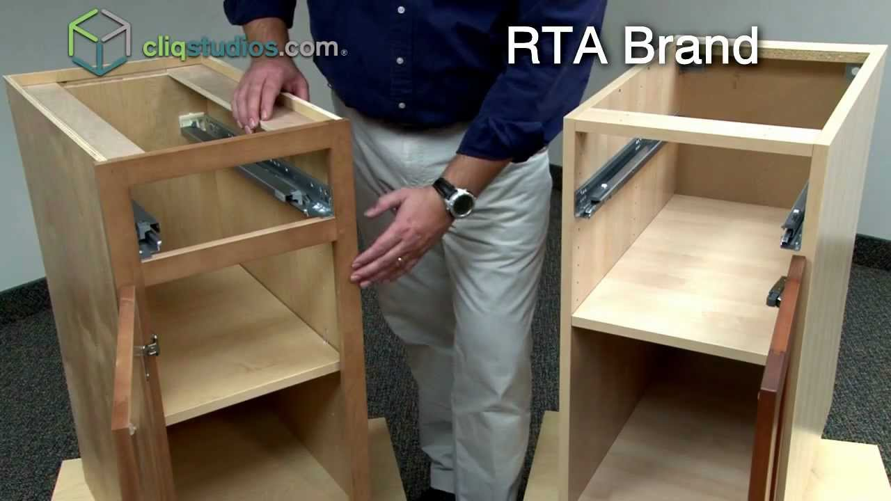 CliqStudios Vs Ready To Assemble Cabinets RTA Cabinets YouTube - Unassembled kitchen cabinets