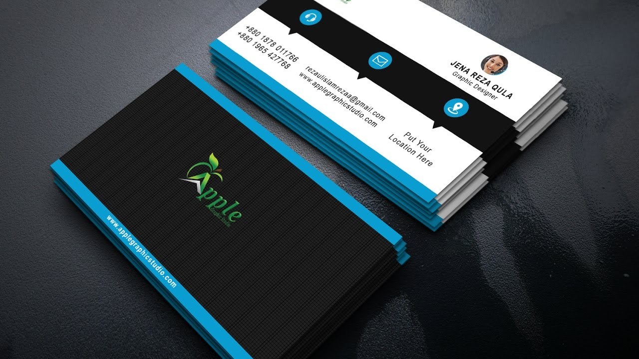 How to create a corporate business card design in photoshop youtube how to create a corporate business card design in photoshop apple graphic studio magicingreecefo Choice Image