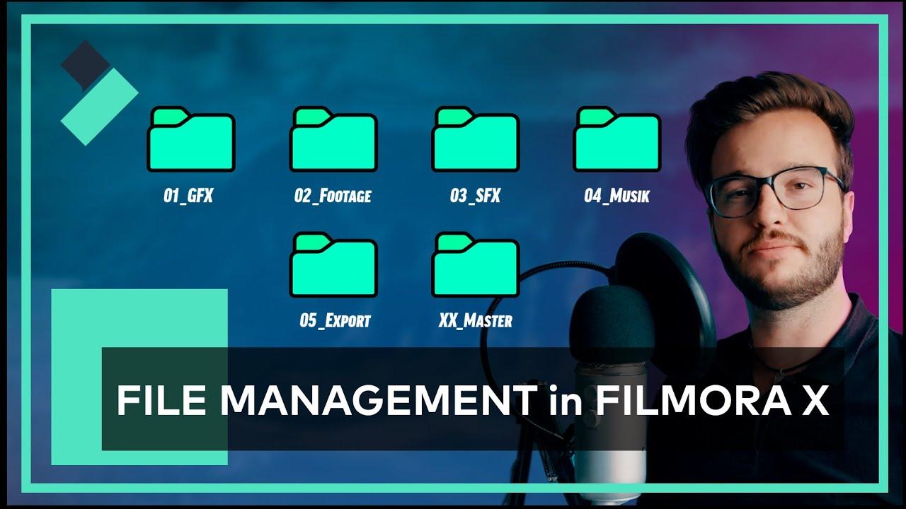 Projekte RICHTIG Organisieren - FILE MANAGEMENT in FILMORA X   FilmoraX User-Showcase