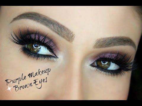 Eye Makeup Tutorial: Purple Makeup for Brown Eyes