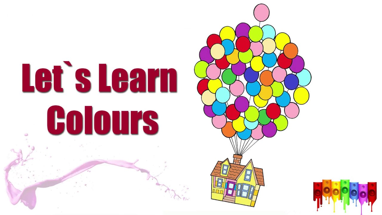 Learn Colours For Kids With Balloons Cocuklar Icin Balon Boyama