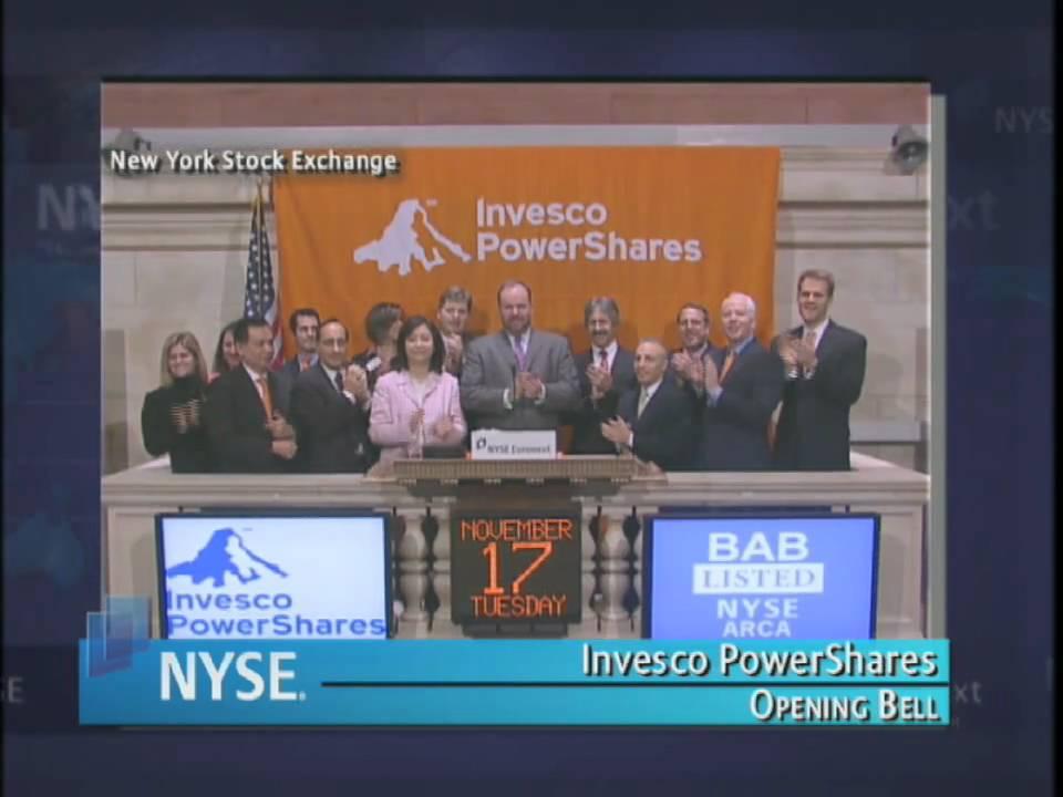 17 November 2009 Nyse Opening Bell Invesco Powershares Youtube