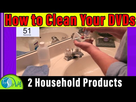 How to Clean DVD CD with Two Common Household Products