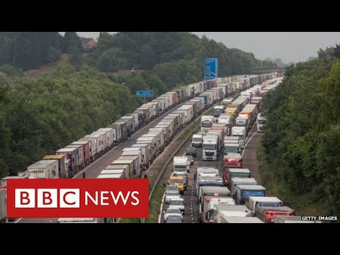 Haulage firms blame government after Brexit warning of 7,000 lorry queues in Kent - BBC News