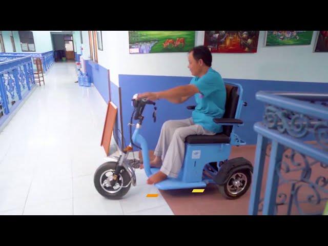 [Dự án xe ba bánh điện]-Giới thiệu xe ba bánh điện mô tơ bằng vi sai đầu tiên chế tạo tại Việt Nam