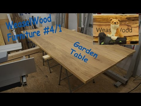 WeaselWood Furniture #4/1 [English] Garden Table (Part 1)