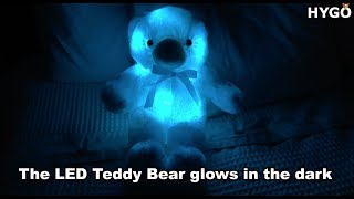 Super Soft Bear Plushie Lights Up In Dazzling Colors