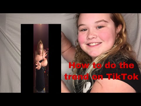 How to do the trend on TikTok