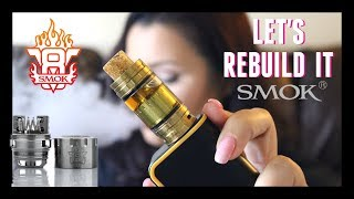 SMOK TFV8 RBA TUTORIAL - How To Build and Wick It