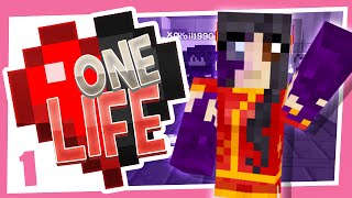 Minecraft UHC Survival! One Life - Building the Hut!