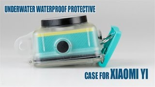 underwater waterproof protective case for xiaomi yi sports action camera review