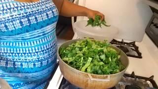 🖒🖒👀 Fried Collard Greens Cooking