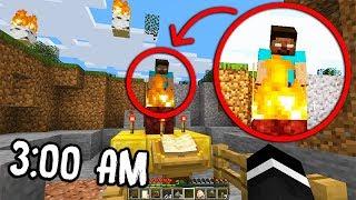 Do NOT Summon HEROBRINE in Minecraft at 3:00 AM... (Scary Minecraft Herobrine Sighting)