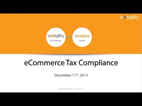 eCommerce Tax Compliance with eCC Desktop and AvaTax