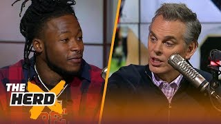 Alvin Kamara takes Colin inside the Saints locker room after playoff loss to Vikings | THE HERD