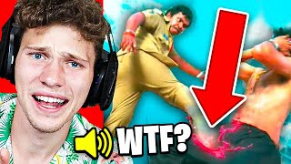 Reacting To The Worst Action Movie Scenes Of All Time...