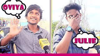 When Chennai Boys Meet BiggBoss Oviya, Julie & Gayathri in Real Life??? | Funny Public Reactions