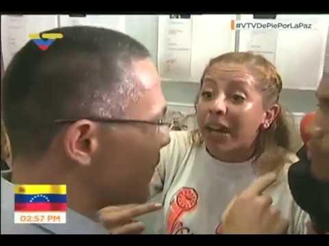 Así recibió Ernesto Villegas a estudiantes opositores en VTV (Video Completo)