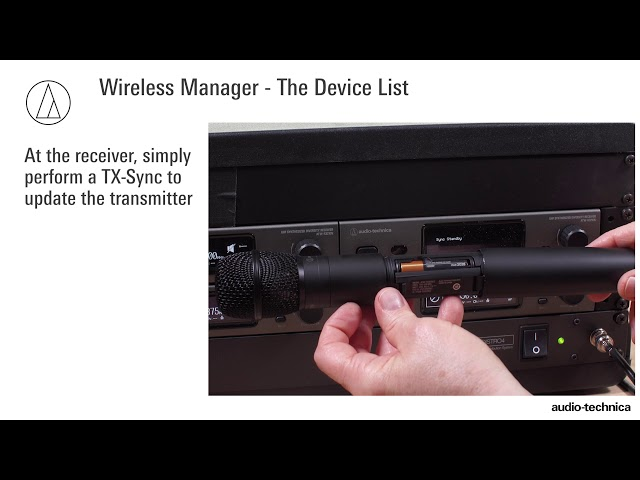 Wireless Manager Software Tutorial | Device List