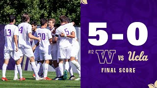 Men's Soccer: No. 12 Washington blows out UCLA by five at home