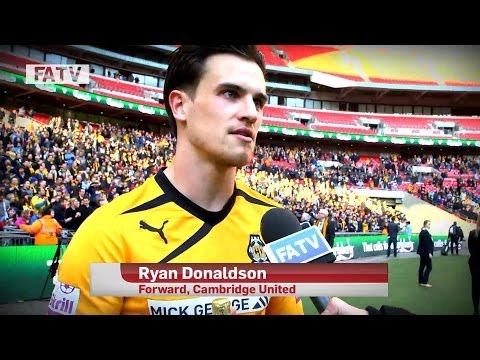 FA TROPHY CUP FINAL: Man of the Match Ryan Donaldson