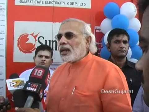 Narendra Modi opens India's first canal-top solar power plant