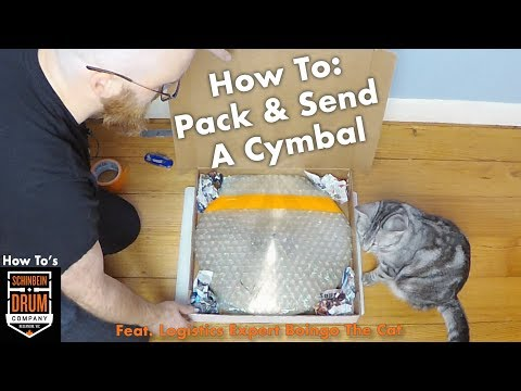 How To: Pack & Send A Cymbal Feat. Logistics Expert Boingo the Cat.