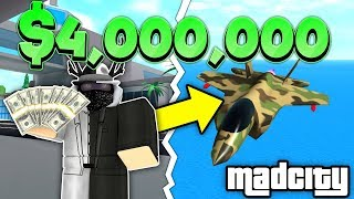 BUYING THE *NEW* WARHAWK JET FOR 4 MILLION CASH! (ROBLOX MAD CITY)