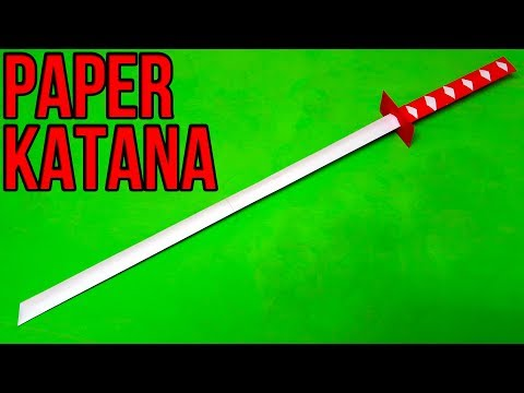 How to make a origami ninja sword step by