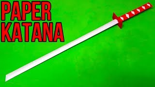 How to make a Paper Sword | Japanese Katana Sword