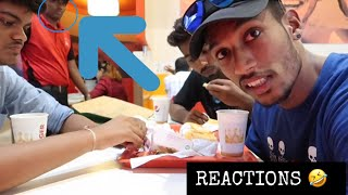 Eating Burger king Meal in KFC 🤣
