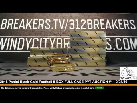 2015 Panini Black Gold Football 8-BOX FULL CASE PYT AUCTION #1 - 2/25/16