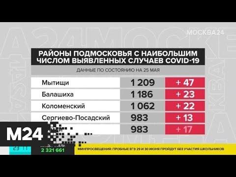 В Подмосковье выявили 830 новых случаев COVID-19 - Москва 24