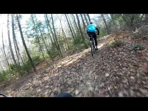 Trail L at Bull Mtn following Hunter