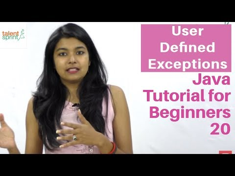 User Defined Exceptions   Java Tutorial for Beginners 20   TalentSprint
