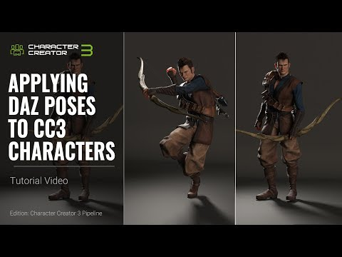 Character Creator 3 Tutorial - Applying Daz Poses to CC3 Characters