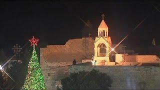 El Patriarca Latino de Jerusalén pide en Belén rápidez para reconstruir Gaza