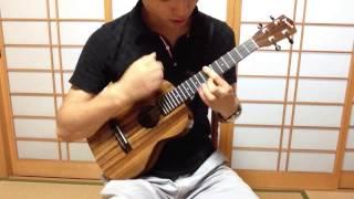 あまちゃんのオープニング曲をLow-Gチューニングで弾きました。
