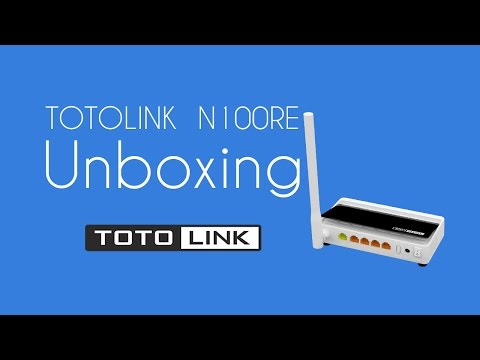 TOTOLINK N100RE  WiFi Router Unboxing